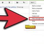 ایجاد فیلتر برای مسدود کردن ایمیل