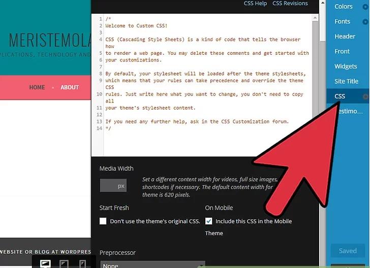سفارشی سازی از صفحه سفارشی وردپرس
