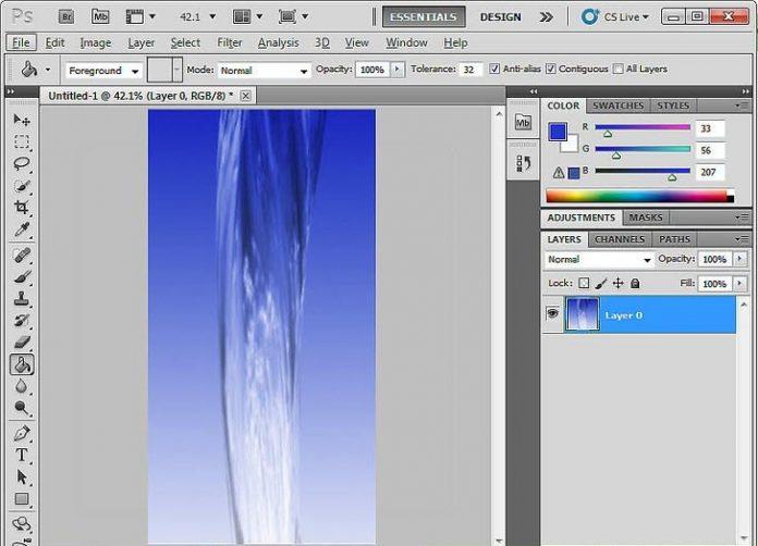آموزش ایجاد جریان آب در فتوشاپ
