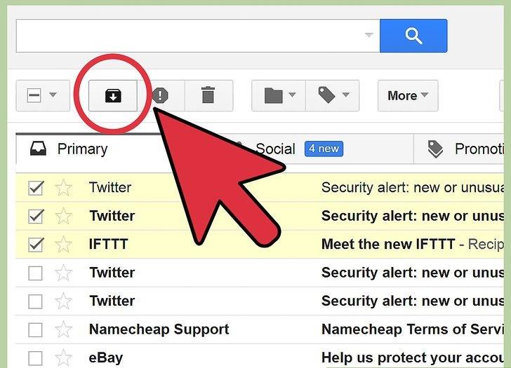 آرشیو ایمیل در وب سایت Gmail