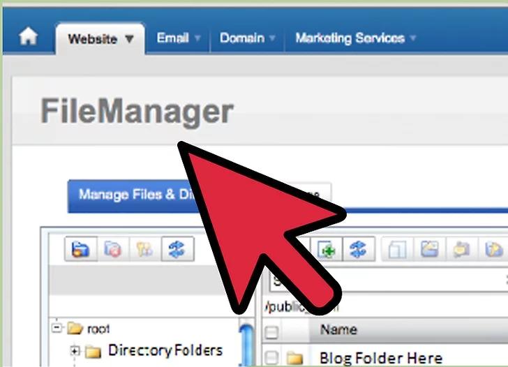 به گزینه File Manager بروید