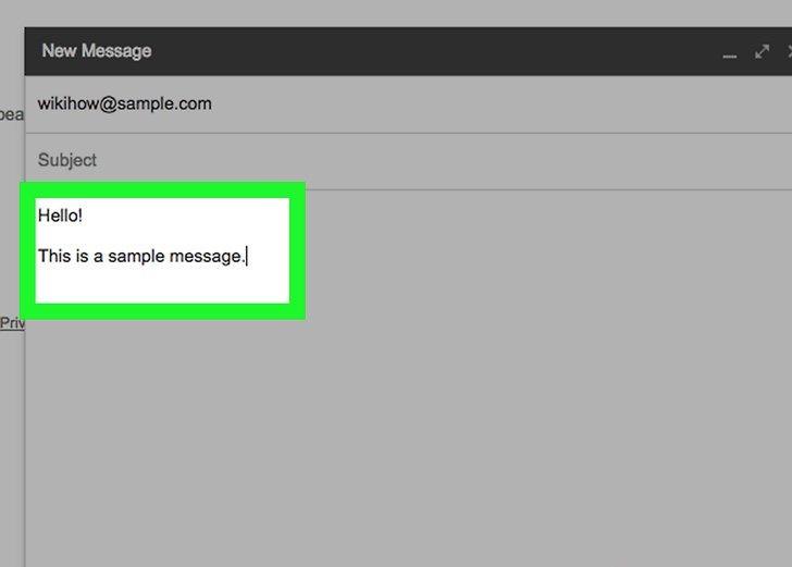 ارسال یک ایمیل