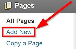 آموزش ایجاد یک صفحه در وبلاگ وردپرس