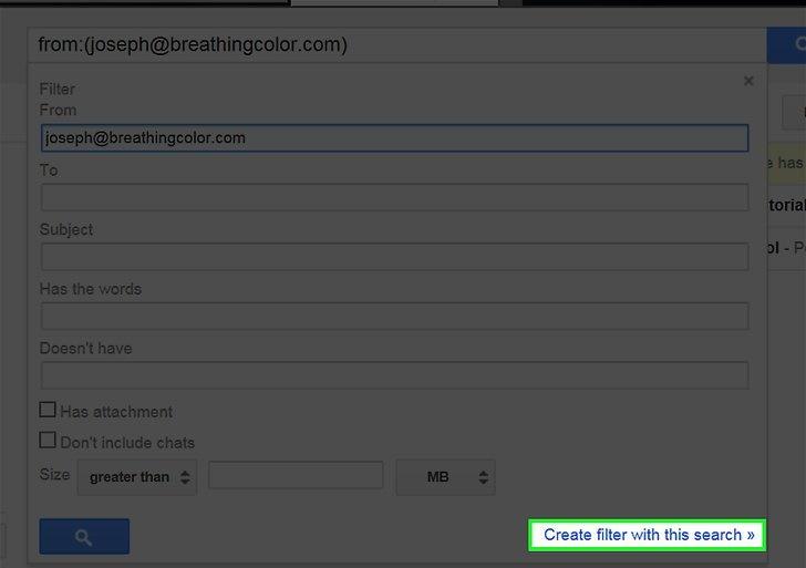 ایجاد فیلتر برای ایمیل های ناخواسته