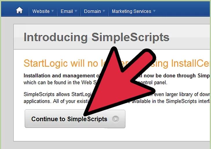 به پانل کنترل خود بروید و WordPress را انتخاب کنید