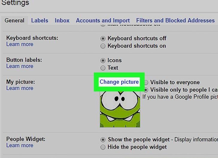 نحوه تغییر تصویر پروفایل جیمیل
