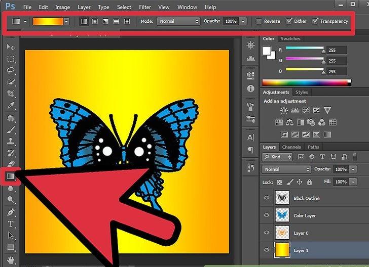 ایجاد یک پروانه با استفاده از فتوشاپ