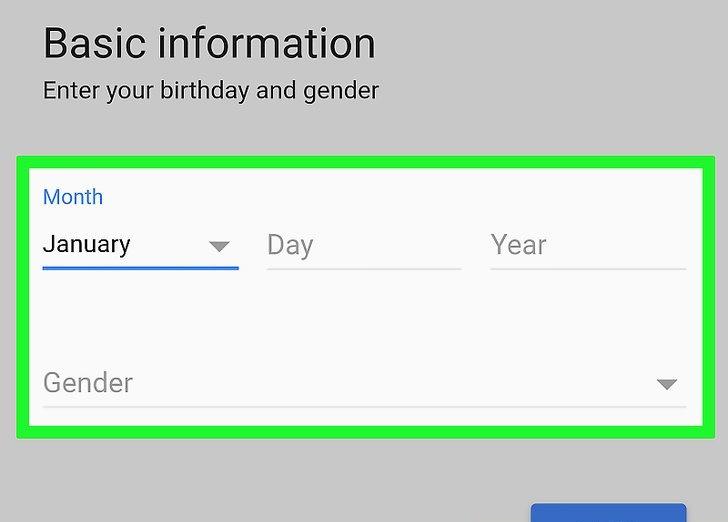 انتخاب مشخصات تاریخ تولد