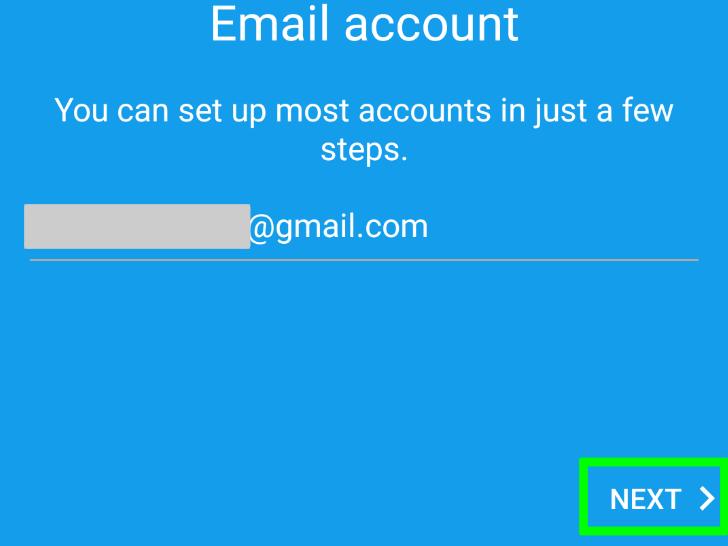 ورود به حساب کاربری جیمیل در اندروید