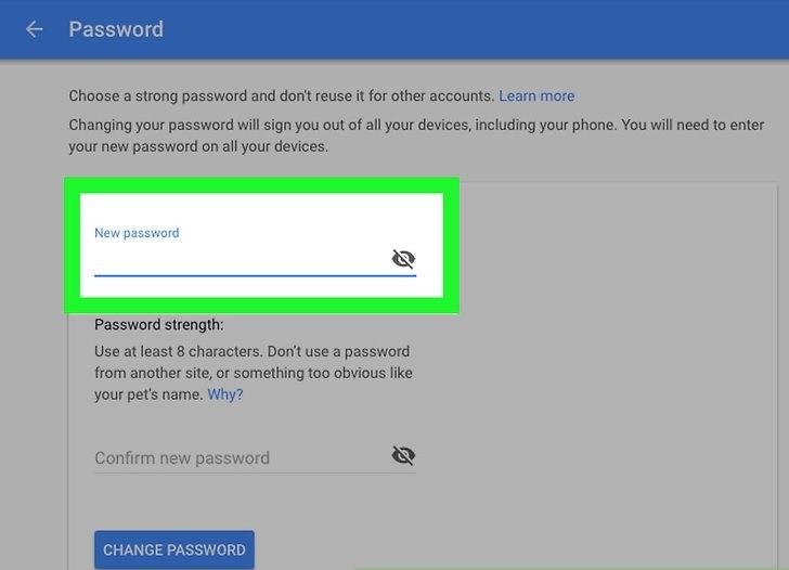 تغییر رمز عبور شما