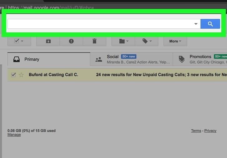 مدیریت ایمیل ها