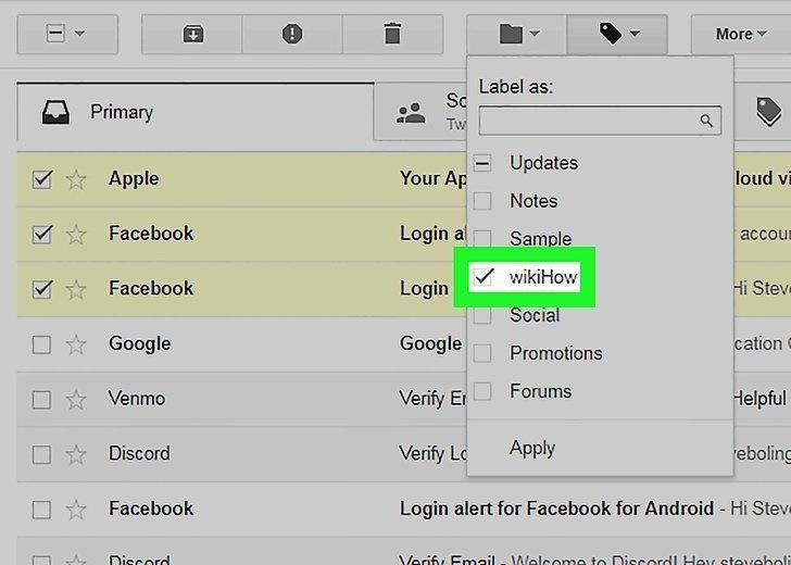 نحوه انتقال ایمیل به پوشه های مختلف در جیمیل