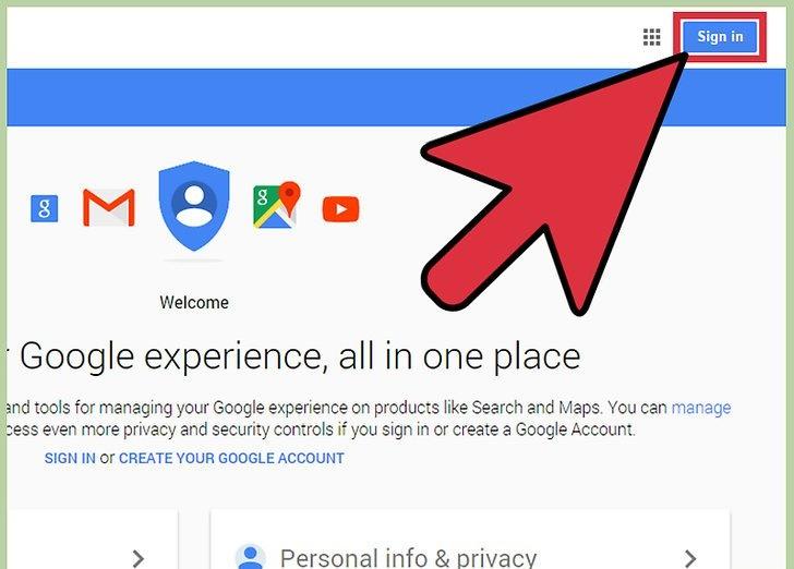 sign in به حساب کاربری گوگل