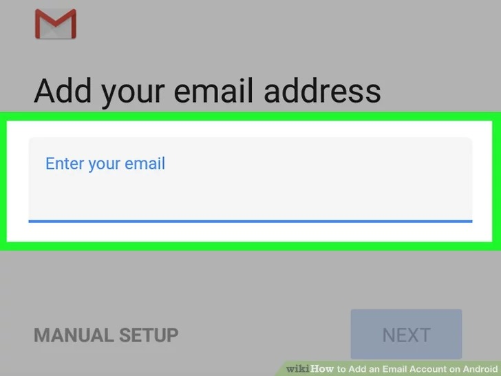 وارد کردن حساب ایمیل