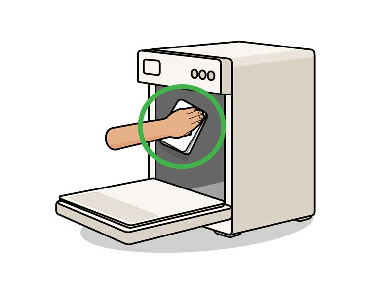 تمیز کردن داخل ماشین ظرف شویی