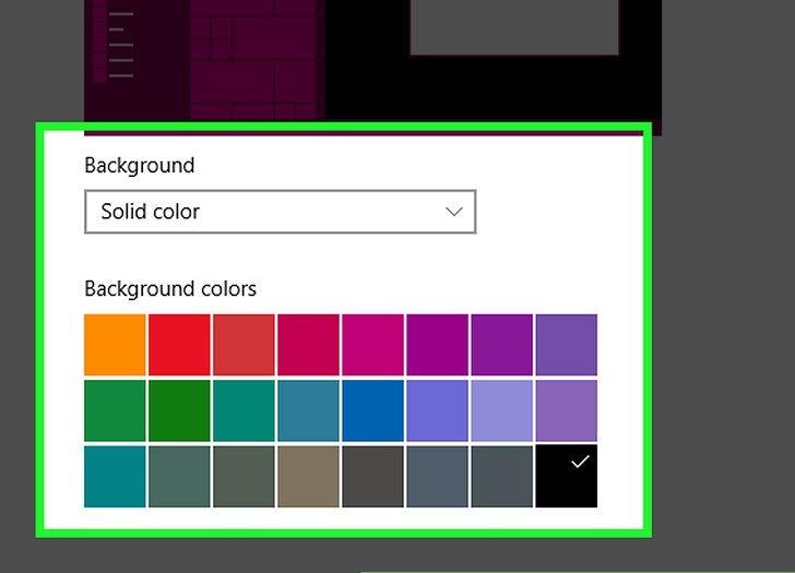 انتخاب رنگ پس زمینه برای کامپیوتر