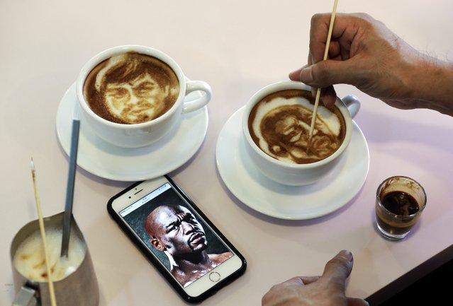 نقاشی های جالب با قهوه در بهترین کافه های هنری دبی
