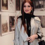مدل موی متین ستوده در افتتاحیه نمایشگاه عکس