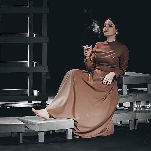 عکس متین ستوده در تئاتر فصل شکار بادبادک ها