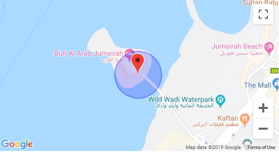 نقشه برج العرب دبی