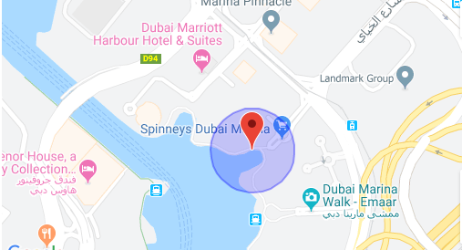 نقشه دبی مارینا دبی