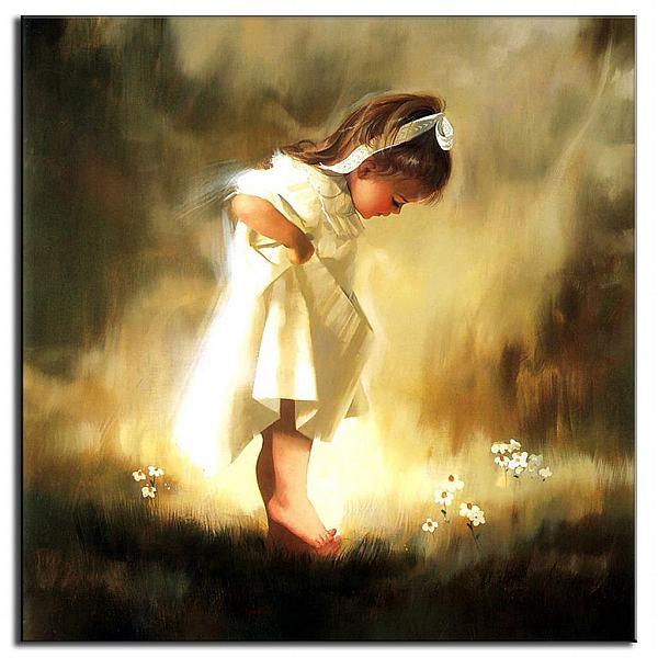 عکس نقاشی دختر کوچولو زیبا