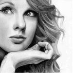 عکس نقاشی سیاه قلم دختر