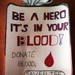 عکس نوشته اهدا خون