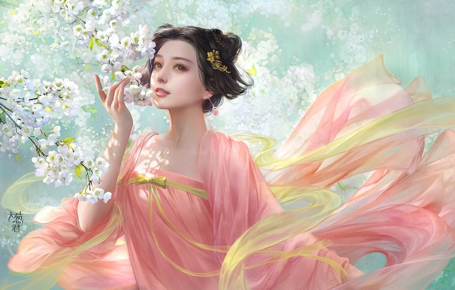 عکس دخترانه فانتزی ژاپنی