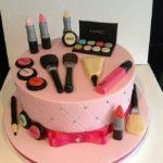 زیباترین مدل کیک لوازم آرایش روز دختر