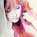 زیباترین عکس نقاشی دختر با آبرنگ