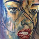 تابلو نقاشی دختر با رنگ روغن