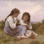 تابلو نقاشی دختر در طبیعت