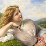 عکس نقاشی دختر ساده با رنگ روغن