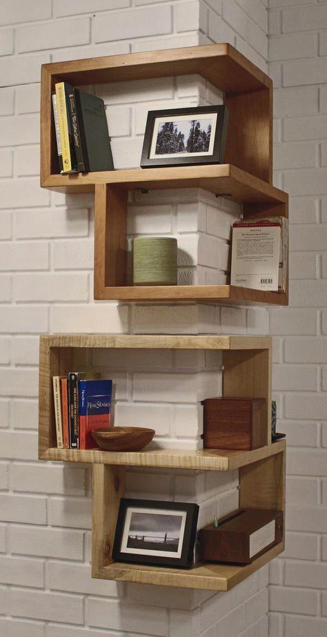 قفسه کتاب دیواری ساده