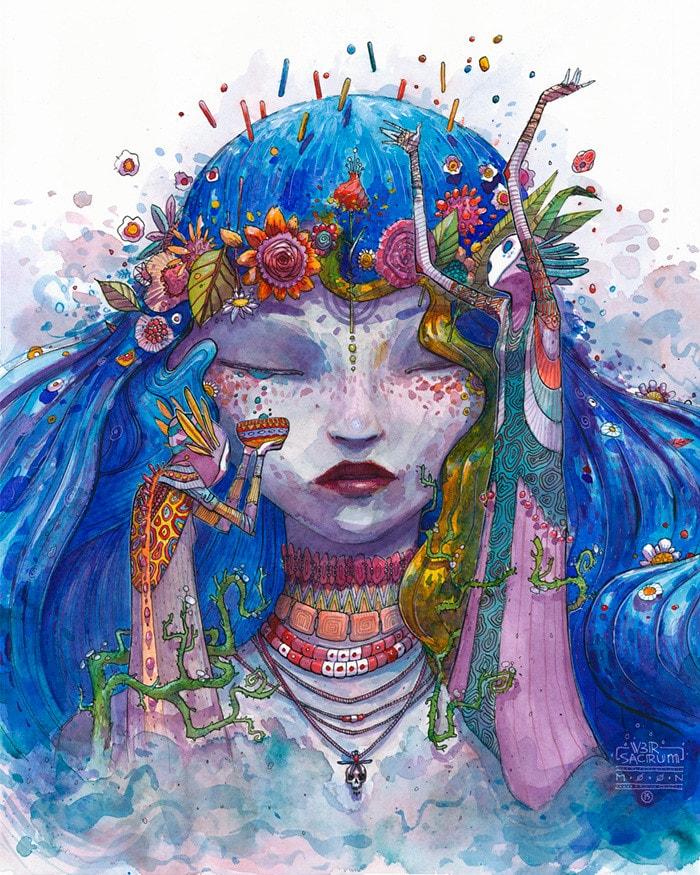 عکس نقاشی دخترانه فانتزی و مدرن