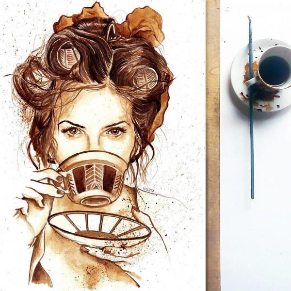 عکس نقاشی دختر فانتزی و هنری