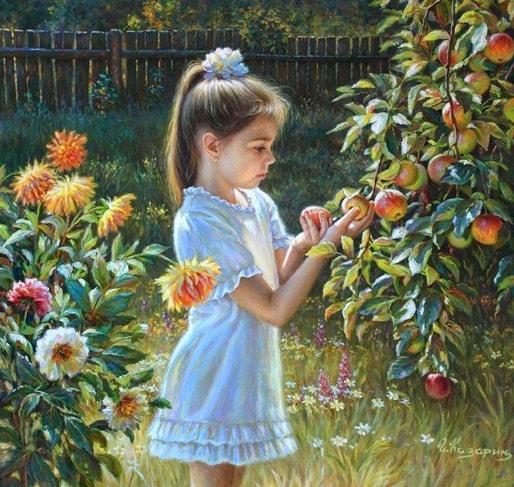 عکس نقاشی دختر فانتزی و جذاب