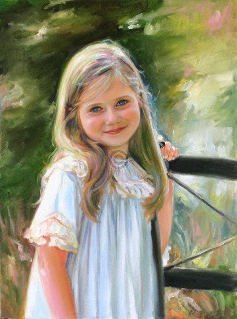 عکس نقاشی دختر فانتزی و زیبا