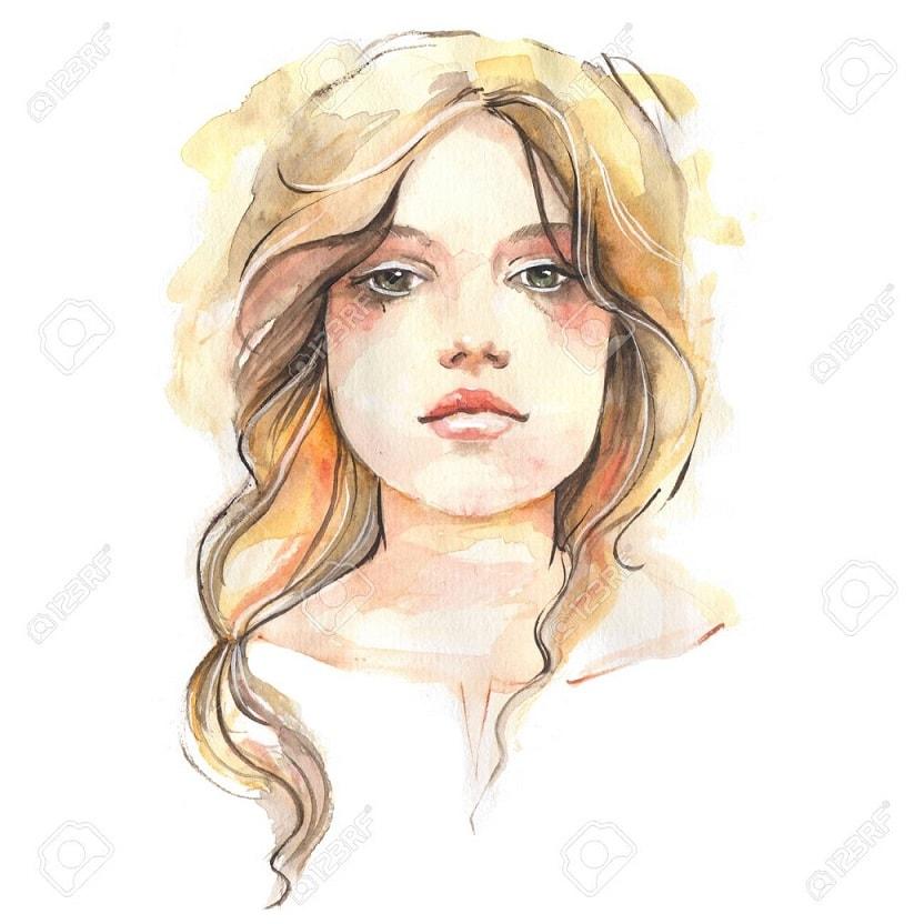 عکس نقاشی دخترانه فانتزی زیبا