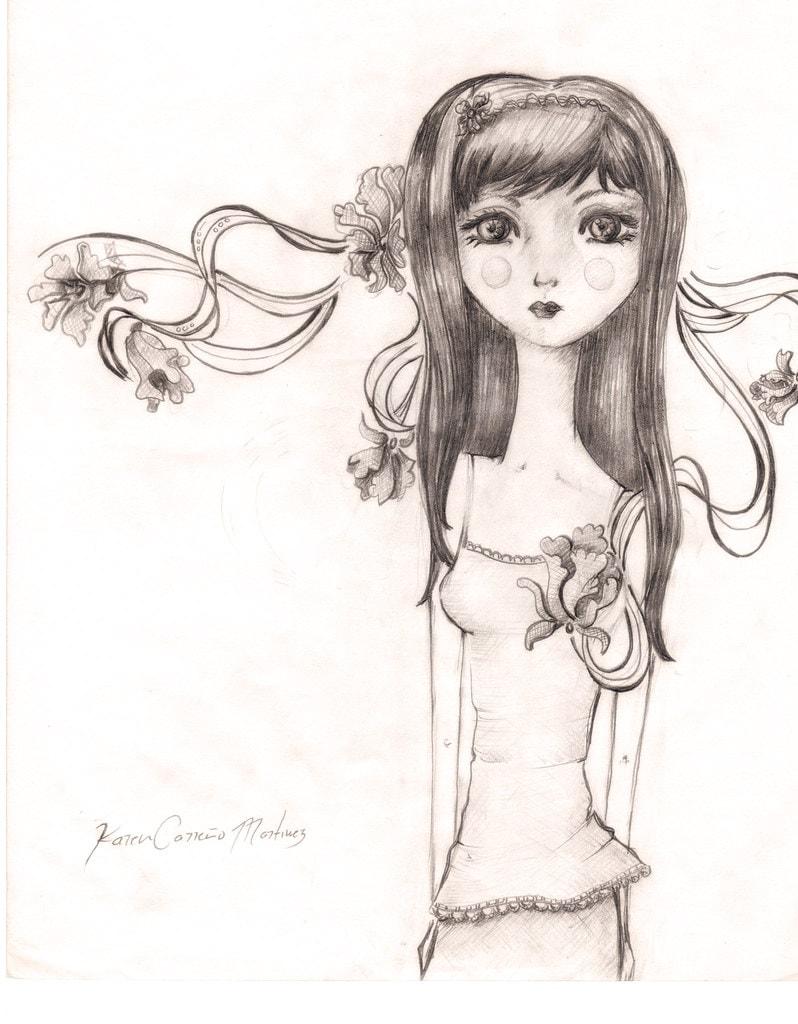 عکس نقاشی دخترانه فانتزی جدید