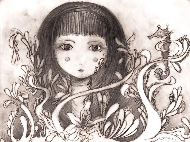 عکس نقاشی دخترونه فانتزی جدید