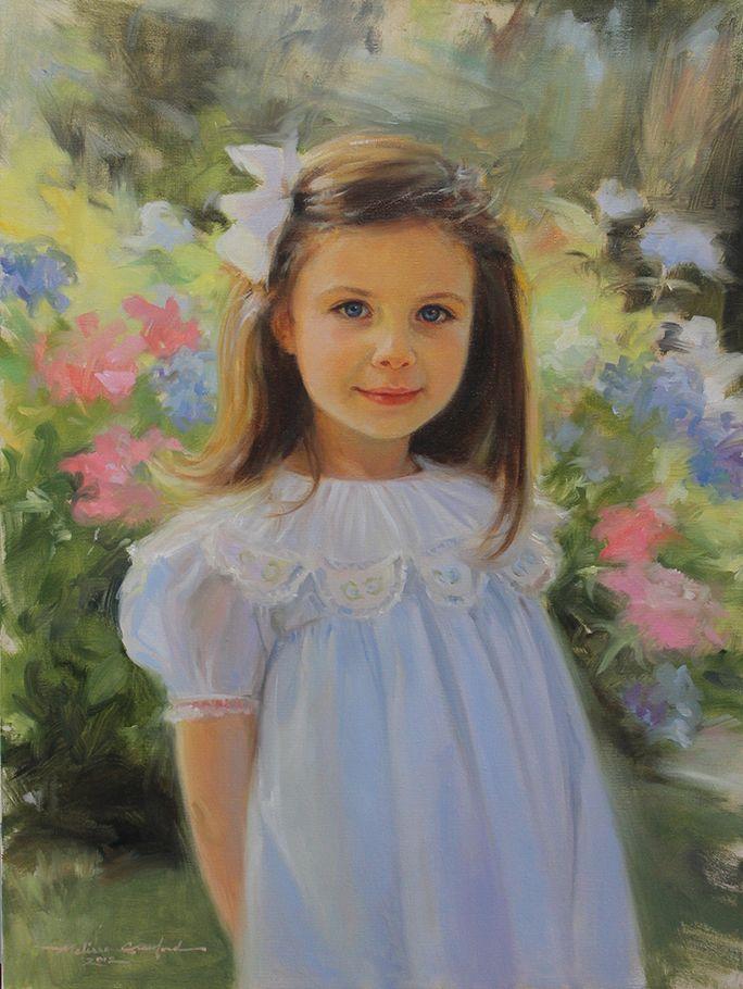 عکس نقاشی دختر فانتزی آبرنگ