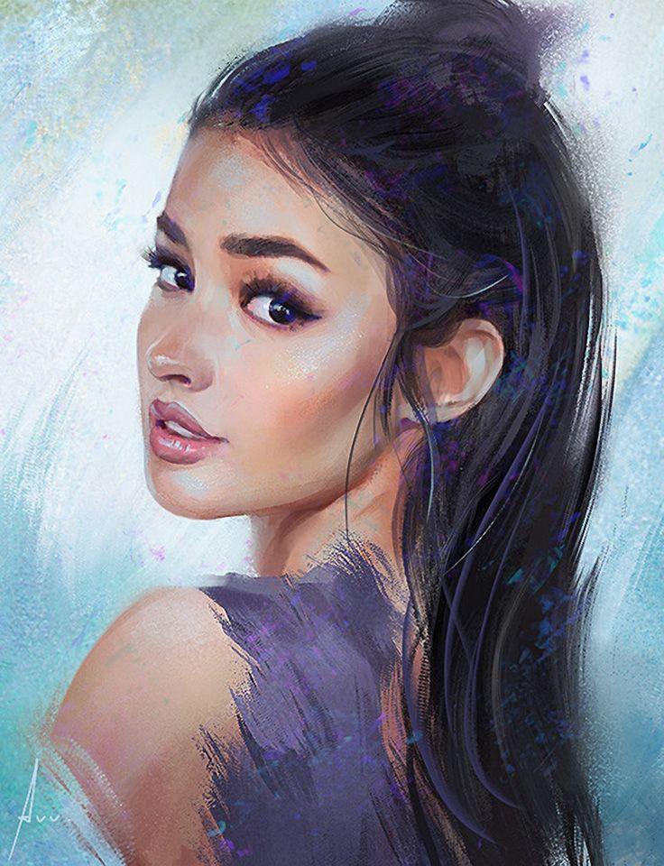عکس نقاشی دختر فانتزی جدید