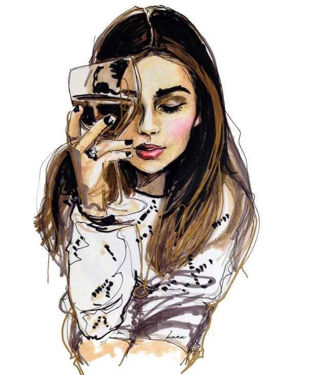 عکس نقاشی دخترانه فانتزی و شیک