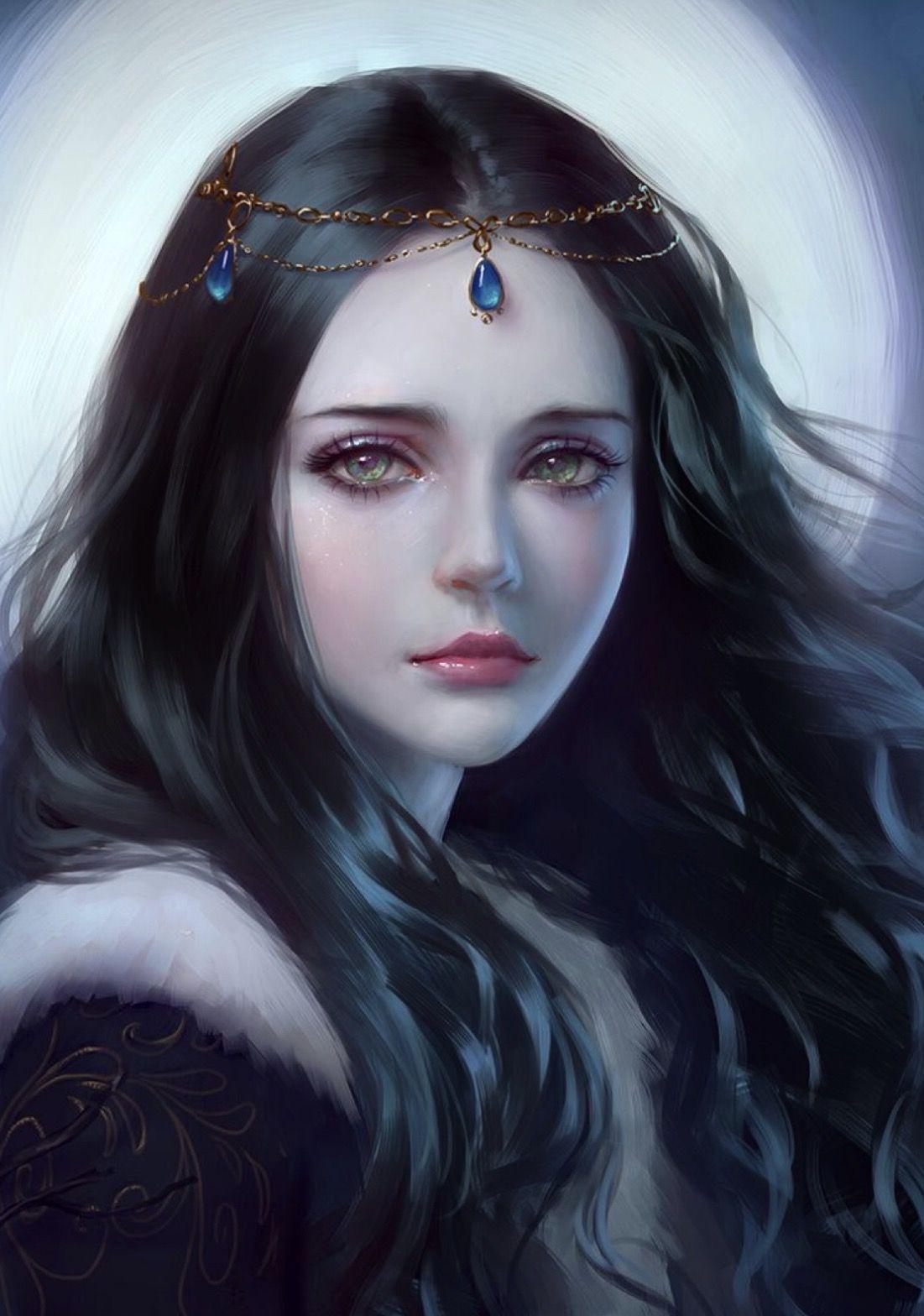 عکس نقاشی دختر فانتزی مدرن