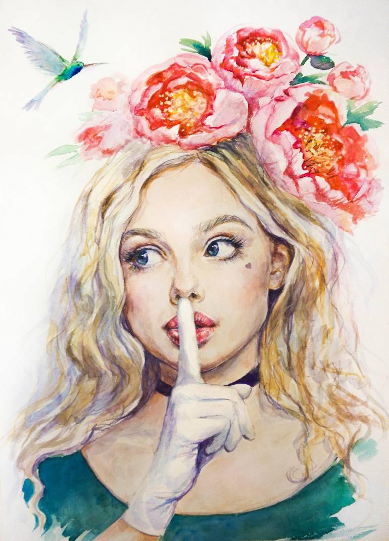 عکس نقاشی دختر فانتزی
