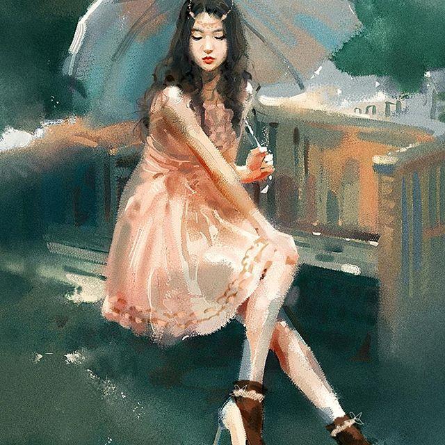 عکس نقاشی فانتزی دختر جدید
