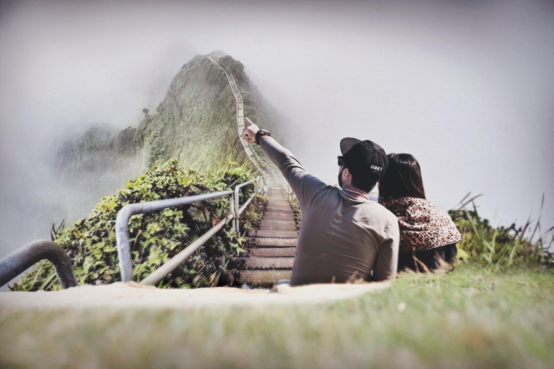 عکس عاشقانه دختر و پسر از پشت سر