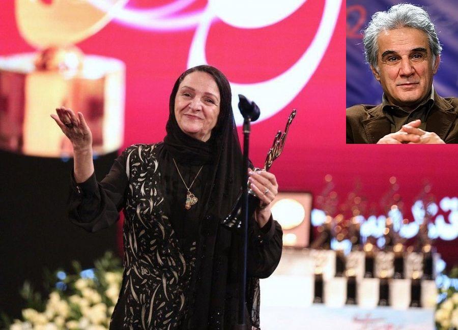 تشکر گلاب آدینه از همسرش در جشن حافظ 98